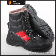 Geniune Leather Safety Boots with Fur and Steel Toe (SN5299)
