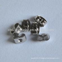 BXG024 Embrayages de papillons de luxe en acier inoxydable chirurgical - Boucles d'oreille, boucles d'oreilles
