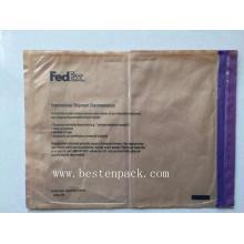 Пурпурные молнии упаковочный список конверт