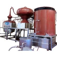 Charentais Still 200L-5000L liquor distiller cognac Charente distillation machine  red copper brandy distiller