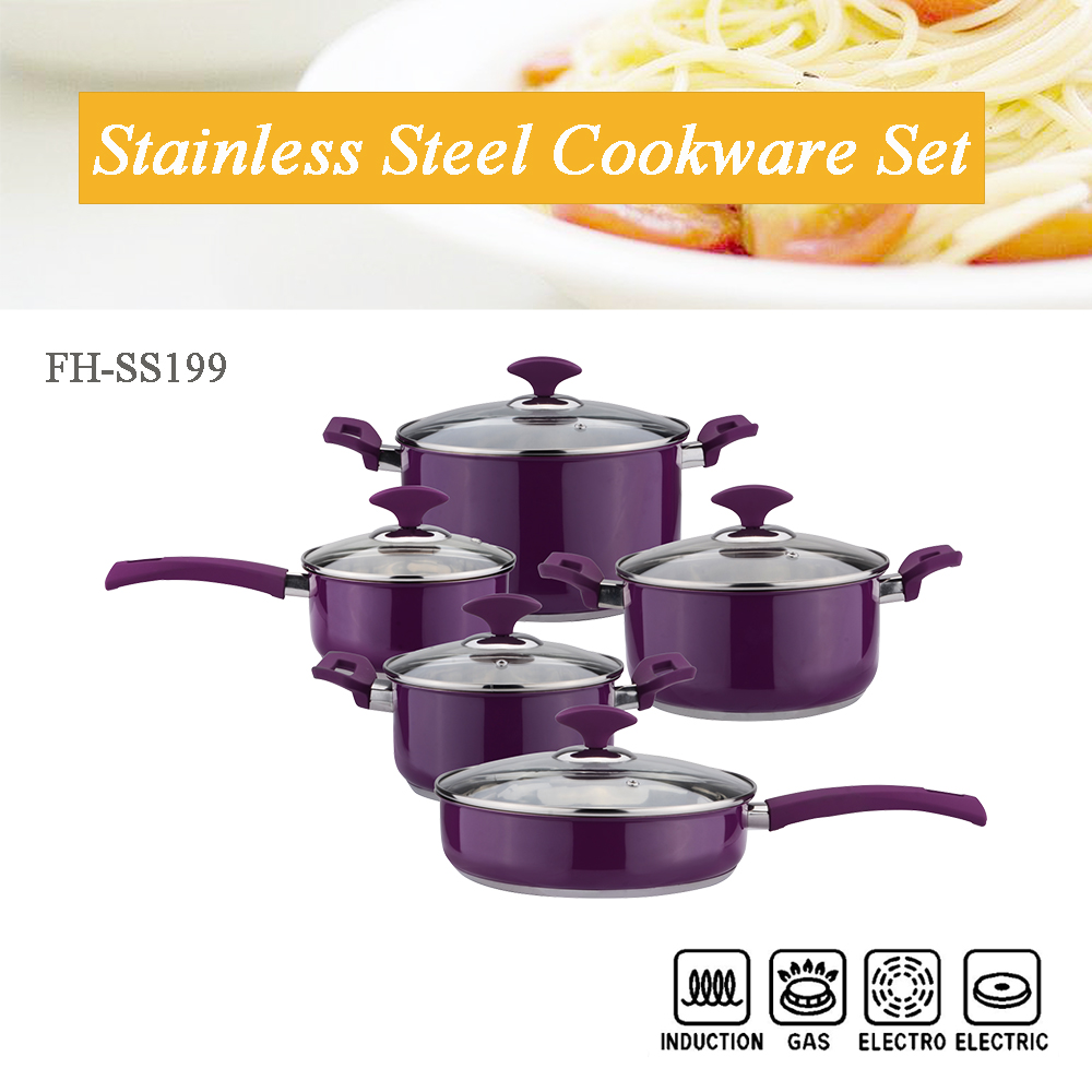 purple induction cookware