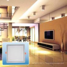 Светодиодные Утопленный свет/новый дизайн двойной Цвет квадрат cob свет