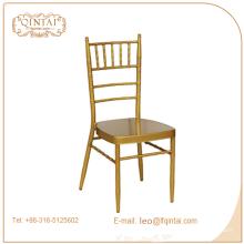 chaises chiavari de banquet de jardin en bambou doré, chaises en métal de bambou