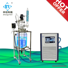 Chemical stirred jacketed bioreactor sight glass reactor