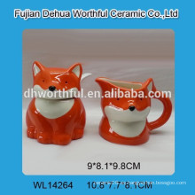 Fábrica directamente al por mayor jarra de leche de cerámica de alta calidad con tarro de azúcar