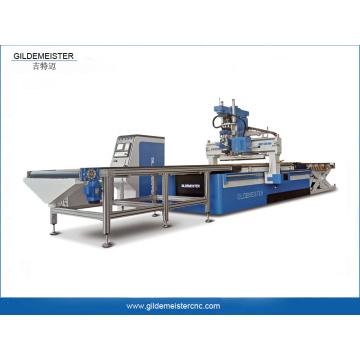Carregamento e descarregamento automático da máquina roteador cnc