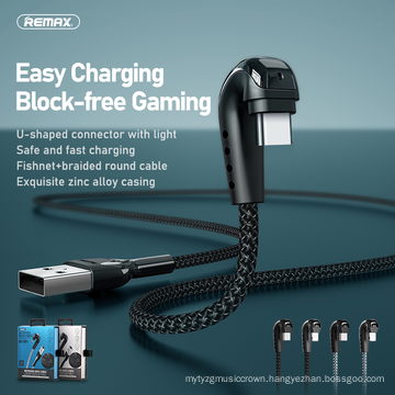 Remax Join Us Zinc Alloy 3A 1m USB to light c type elbow charging Data Phone Cable gaming