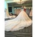 Heavy beaded shoulder women wedding dress 2017 DY020