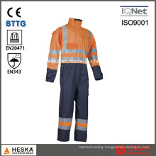 OEM Mens Waterproof High Visibility Clothing Reflective Coverall