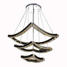crystals modern design hotel led light chandelier