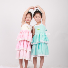 New Design Kid Girls Flower Clothing Dresses Boutique