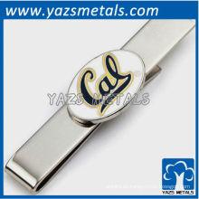 La universidad lleva mancuernas y sistema del regalo de la barra del lazo, clip por encargo del lazo del metal con diseño
