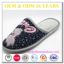 Sale factory animal embroidered women winter daily wear quiet indoor slipper