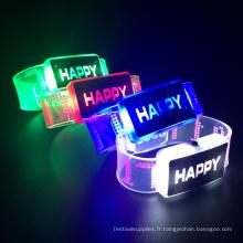 allumer led clignotant 2017 heureux bracelets fourniture de fête