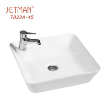 Small Rectangular White Countertop Hand Washing Basin