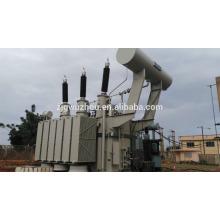 Transformateur de puissance à immersion à l'huile triphasé de 150 kV à 300 kV Afrique installé