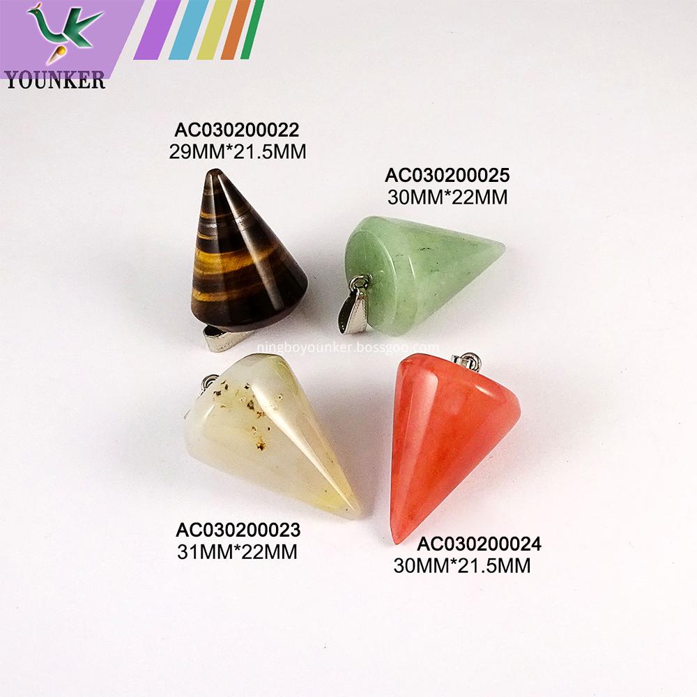 Multi Color Natural Stone Pendant