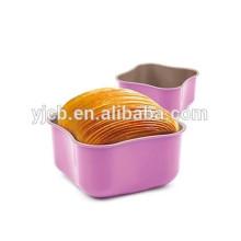 Мини-вишнево-розовая углеродистая стальная форма для кекса