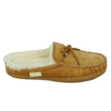 hot sells product women's sheepskin moccasin fur slippers