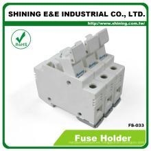 FS-033 Din Socket Connector Cilindro de cartucho Ceramic Fuse Holder