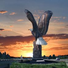 Arte de escultura de bronze de alta qualidade ao ar livre estátuas de águia