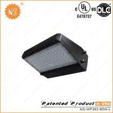 UL Dlc 7000lm IP65 Impermeável 80W LED Wall Pack Light