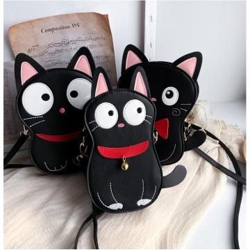 Cat Mini Bag Cartoon Ledertaschen Stickerei Patch
