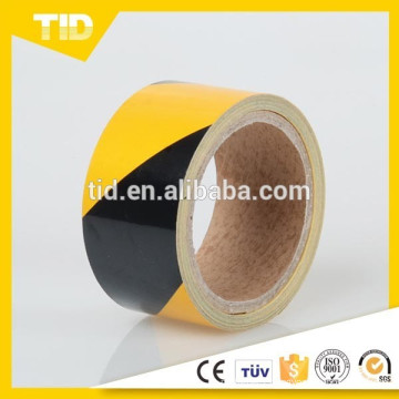 Yellow and Black Reflective Warning Tape