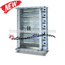 K763 Restaurant Multilayer Chicken Gas Vertical Rotisserie With CE