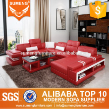 Italian style luxury sofa set living room furniture with USB charges
