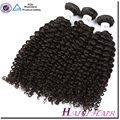 Malaysian Hair Mink Virgin Hair Machine Weft No Chemical Natural Color Kinky Curly
