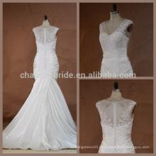 Vestido nupcial moldeado por encargo del vestido de boda del bordado del bordado