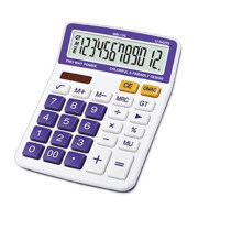 12 digits double display check function desktop calculator