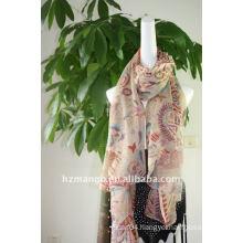 Classic paisley print cheap chiffon scarf
