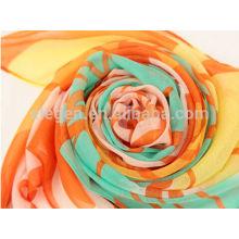100% Polyester Printing Spring/Summer Long Scarf