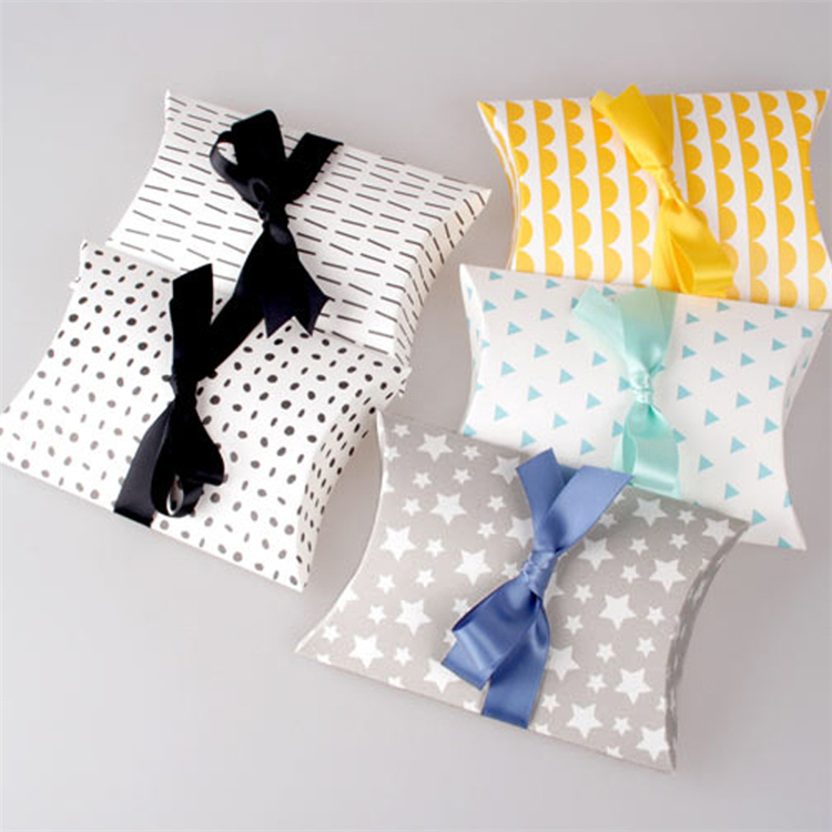 Wig Hair Extension Pillow Packaging Box With Ribbon