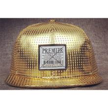 Chapéus lisos personalizados ouro da borda do Snapback