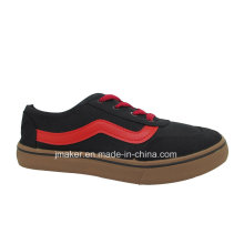 Factory Men Canvas Classical Skate Injection Shoes (J2608-M)