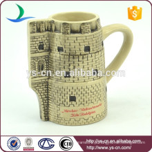 YScc0032-1 Presente de Natal Castelo cerâmico em relevo Cup