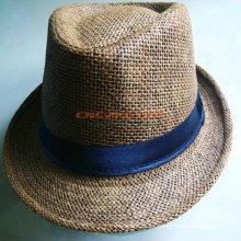 Diseña el sombrero de Fedora de los hombres con el logotipo impreso para la promoción