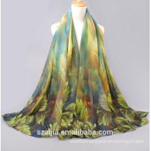 New fashion printed silk sun beach scarf /shawl