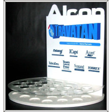 Customized desktop L-type acrylic cosmetics display stand