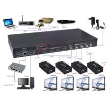 100m 4X4 HDMI ao controle do IR do apoio do Switcher da matriz coaxial (RS-232, TCP / IP, EDID)