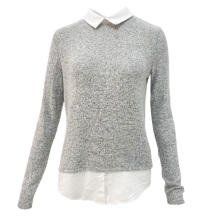 Women Autumn Long Plus Size Casual Anti-Shrink Knit Lapel Women'S Blouse