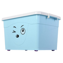Cute Facial Expression Plastic Storage Container for Storage