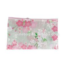 Женская мода цветок прозрачный пластиковый прозрачный PVC косметический мешок с логотипом