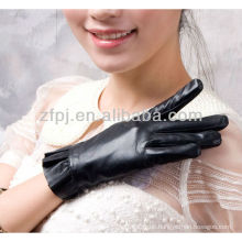 Heißer Verkauf Damenpilz geformte lederne Handschuhe