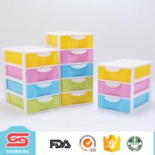 gavetas de armazenamento mini bonito e colorido para pequenos artigos diversos de armazenamento