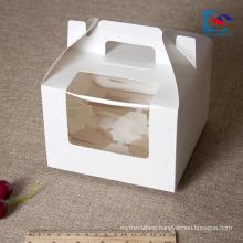 Custom food grade individual birthday cake boxes with handle