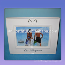 Handmade white ceramic couple frames in high quality
